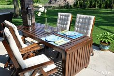 Outdoor dining furniture: ikea