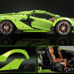 Lego like building blocks lamborghinis
