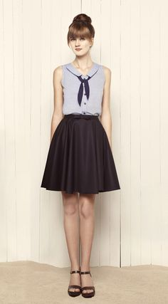 I need more sailor collars in my life! From the Betina Lou Spring collection