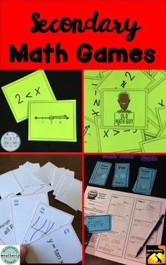 Games in the Secondary Math Classroom Math Teacher, Math Classroom, Teaching Math, Classroom Ideas, Teaching Ideas, Math Games, Math Activities, Math Math, 8th Grade Math