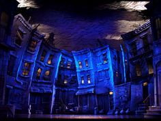 famous scenic designs on broadway. This is Skid Row from Little Shop of Horrors. Stage Set Design, Set Design Theatre, Skid Row, Royal Ballet, Body Painting, Theater, Broadway, Little Shop Of Horrors, Design Research