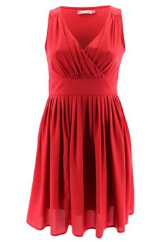 Camilla Red - This gorgeous party dress is simply perfect for any summer event! Team this flattering shape with a pair of our exclusively designed leather shoes an OFM leather bag and some bling from our accessories category to complete the outfit.