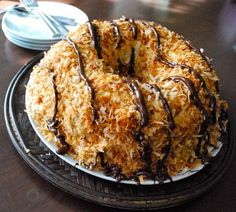 Samoa bundt cake -- just like an over-sized girl scout cookie! ~ Holy shit!