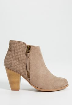 Jaden faux suede heeled bootie with weaved detail (original price, $44.00) available at #Maurices