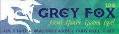 GoRockfest.Com: Grey Fox Bluegrass Festival 2016 Lineup & Tickets ...