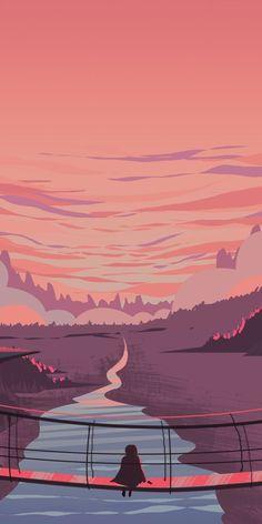 rosa Landschaft digitale Kunst - art and inspiration of any kind Anime Scenery Wallpaper, Landscape Wallpaper, Aesthetic Pastel Wallpaper, Cute Wallpaper Backgrounds, Aesthetic Backgrounds, Cartoon Wallpaper, Landscape Art, Cute Wallpapers, Aesthetic Wallpapers