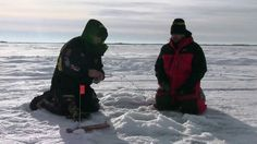 Ice Fishing on Last Mountain Lake, Saskatchewan