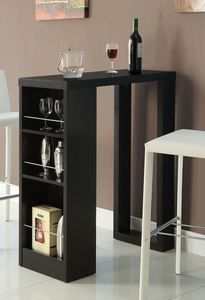 Promotion now!!!  $50 off now!!!Cappuccino 3-Storage Shelves Bar Table!! Time Limited!