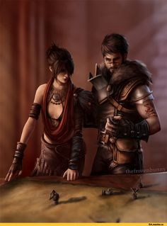 Dragon Age, fandom, Dragon Age Inquisition, Dragon Age 2, DA characters, Hawke, Morrigan, thefrozenbunny