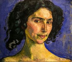 Ferdinand Hodler- Portrait of the Dancer Guilia Leonardi, 1910
