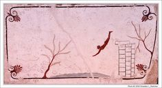 Painting from the Tomb of the Diver   Unknown   c.480 BCE   fresco   Museo Archeologico Nazionali di Napoli, Naples, Italy