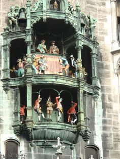 Marienplatz in Munich, Germany. Very cool plaza. Go to www.YourTravelVideos.com or just click on photo for home videos and much more on sites like this.
