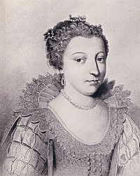 Jacqueline de Bueil (1588 - 1651). Mistress of Henri IV, and she had one son with him.
