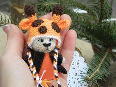 Mini crochet bear teddy bear kawaii artist by RainbowHappiness
