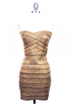 Gold Shimmer Bandage Dress https://www.facebook.com/pages/CHOCOLATE-BUZZ/178415007430