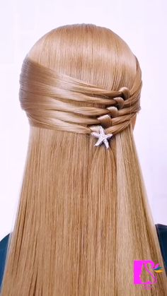 Ponytail hairstyle. Shaping Hair Styling Cream(link) Hairdo For Long Hair, Bun Hairstyles For Long Hair, Front Hair Styles, Medium Hair Styles, Hair Style Vedio, Hair Tutorials For Medium Hair, Hair Videos, Hair Designs, Hair Hacks