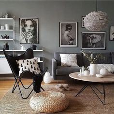 18 stylish gray living room ideas to inspire you 18 Ikea Living Room, Living Room Grey, Interior Design Living Room, Living Room Designs, Nordic Interior Design, Scandinavian Design, Lohals, Minimalist Living, Modern Living
