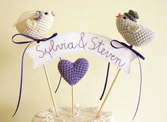 Cake topper uncinetto uccellini amigurumi. #crochet #wedding