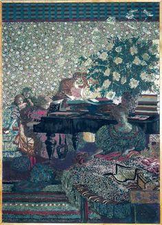 Le piano panneau Vaquez 1896 Réunion des Musées Nationaux-Petit Palais -