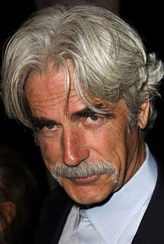 Sam Elliott - while I love his rugged good looks and you can never go wrong with the 'stach what I love the most is his VOICE!