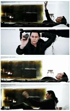 2nd pic down...  the look on his face is beyond fuckin' sexy! Daaamn baby!  Loki in Thor: The Dark World