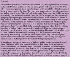 """""""Because INTPs focus on what is logical, they have a tendency to be unaware of or to dismiss their own feelings..."""""""