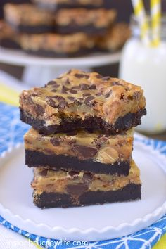 Candy bars and chocolate make these gooey brownie bars a sure hit for dessert! Perfect for sharing at parties and picnics!