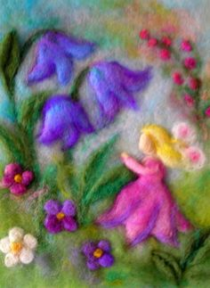 Cornelia Lauwaert copyright © 2013 - All rights reserved Pictures On String, Felt Pictures, Wet Felting Projects, Needle Felting Tutorials, Diy Laine, Elves And Fairies, Felt Fairy, Felt Embroidery, Felt Brooch