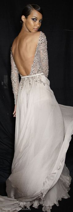 This is my favourite look: open back and long sleeves Elie Saab Haute Couture | F/W 2013
