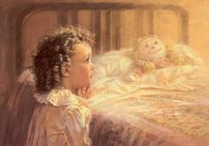 Now I lay me down to sleep, I pray the Lord my soul to keep. See me safely through the night, And wake me with the morning light.~Amen Artist~Kathryn Andrews Fincher