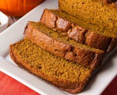 This Pumpkin Bread is an old family recipe that's been passed down through the generations. I still remember baking it with my mother as a little girl, and wrapping the loaves up in foil to bring to every neighborhood holiday party. Now I bake it all the time with my own kids. It's easy – just a bit of mixing and stirring, pop it in the oven, a