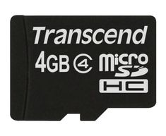 From 4.40 Transcend 4gb Micro Sdhc Class 4 Memory Card