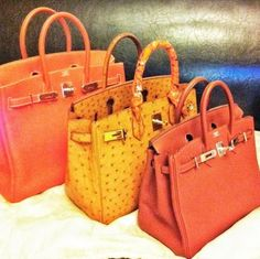 Birkin bags of all colors and sizes. Looks like a nice way to welcome Spring. Birkin style.