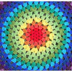 Granny Mandala ❤ liked on Polyvore