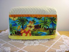 Quilted Sewing Machine Cover, Tropical Sewing Machine Cover, Handmade Sewing Machine Cover by SewspirationsDesigns on Etsy