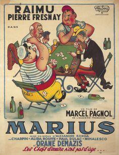 Marius par Albert Dubout, Marcel Pagnol