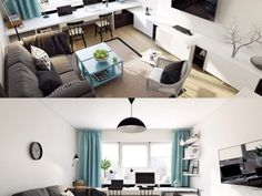 Modern Scandinavian Style Living Room Designs Scandinavian Style Home, Scandinavian Interior Design, Scandinavian Living, Living Room Designs, Living Rooms, Contemporary, Modern, Home Art, Corner Desk