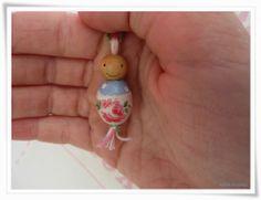 Kleine-Paulinas Glücksbringer aus Perlen, upcycling