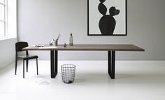 dk3_LowLight Table_from side_oak grey oil_black legs_styled