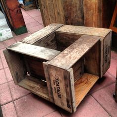 Put it on wheels, and place a large potted plant in the middle! Quaddro Crate Coffee table