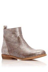 Grey Metallic Ankle Boots