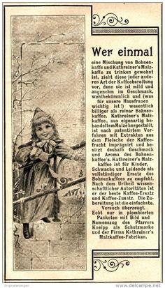 Original-Werbung/ Anzeige 1898 - KATHREINER'S MALZKAFFEE - ca. 90 x 160 mm