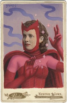 The Art of Alex Gross - Mixed Media Scarlet Witch