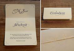 Individuelle Hochzeitseinladung zum selber Ausdrucken. Filigran, Jugendstil, Schnörkel. Hochzeitslogo