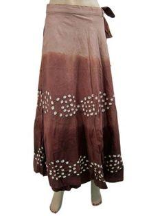 "Womens Cotton Wrap Skirt Boho Fashion Brown Printed Long Skirt 37""l  Mogul Interior , http://www.amazon.com/dp/B007QRK05K/ref=cm_sw_r_pi_dp_bJxEpb001QD5H  $24.99"
