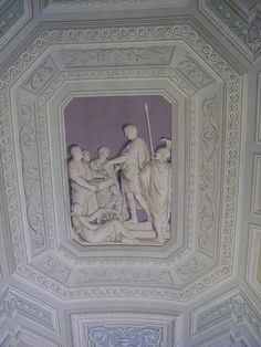 The Vatican Museum Ceiling. It appears to be 3 dimensional but is actually a flat painting.