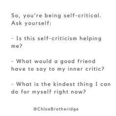 Self-criticism is THE NUMBER ONE ISSUE I hear people struggling with, bar none.⠀ ⠀ If the 'shitty committee' (thanks to @loveprojectlove for that one!) is speaking loudly today - grab your journal and answer these questions.⠀ ⠀ And remember, just because you think it, it doesn't make it true. ⠀ .⠀ .⠀ .⠀ .⠀ .⠀ .⠀ .⠀ .⠀ .⠀ .⠀ .⠀ ⠀ ⠀ #selflove #selfcompassion #loveyourself #mindsetcoach #selfcare #mindfulness #mindset #lifecoaching #happiness #bepresent #anxiety #ruleyourmind