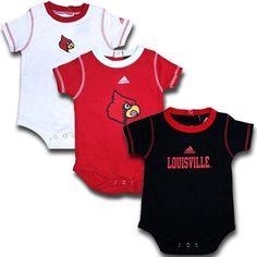 Adidas Louisville Cardinals Infant Onsie 3 Pack