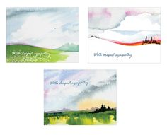 With Deepest Sympathy Watercolor Sympathy Cards - Boxed Set of 15 Assorted Sympathy Cards and Envelopes -- Awesome products selected by Anna Churchill