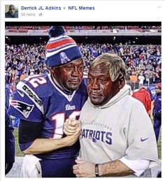 As soon as the New England Patriots couldn't convert that final two-point conversion in the final seconds of the AFC Championship Game, you knew giddy Internet meme artists were at home getting their Crying Michael Jordan photoshop creations ready to go.
